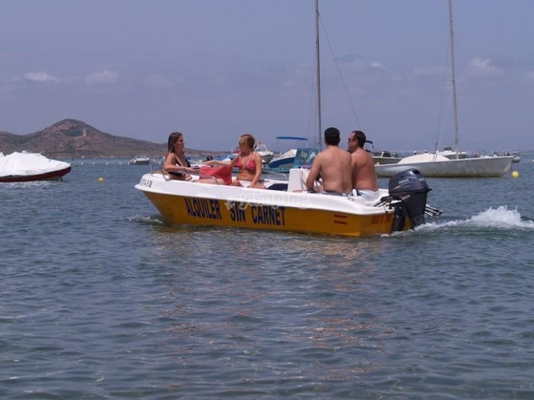 Sailing without licence