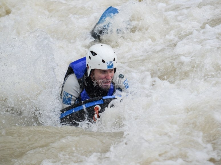 Hidrospeed en río Gállego