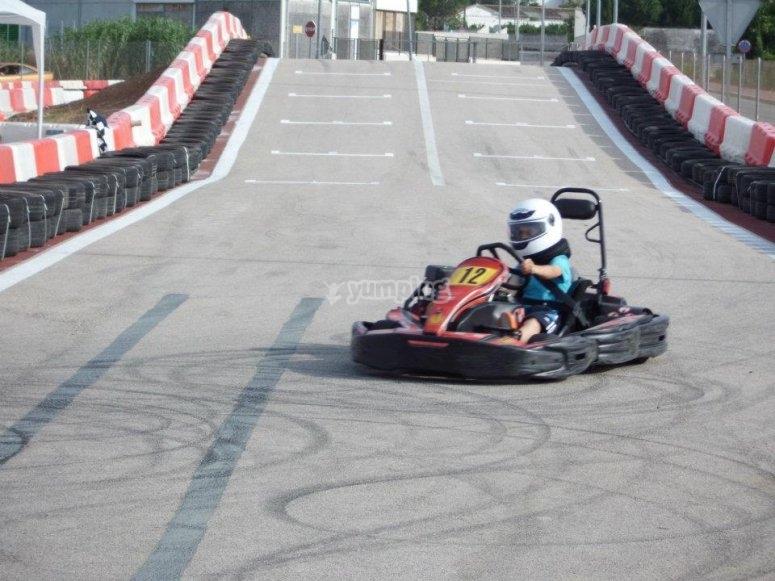Crono de tiempos de karting