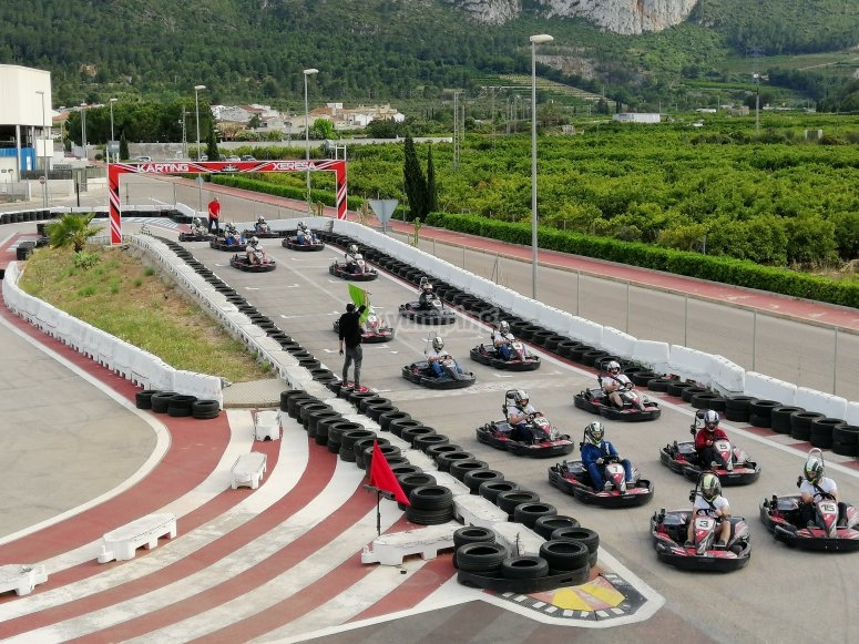 Karting batch for adults
