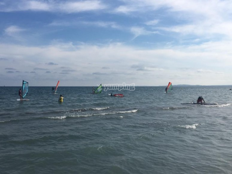 Windsurf students in Santa Pola