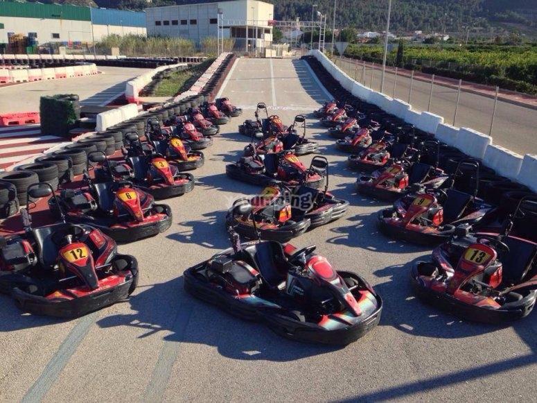 Karting fleet in Xeres
