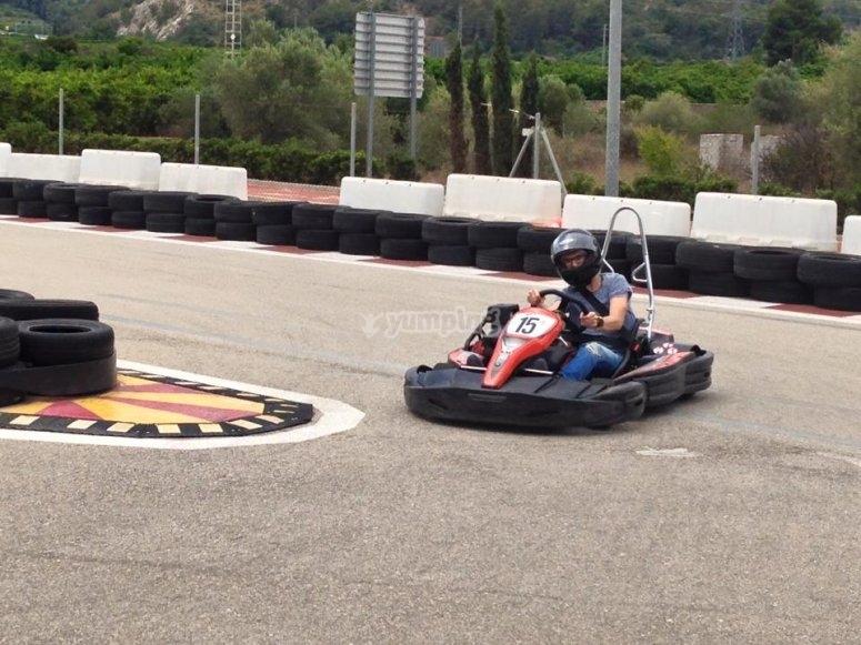 Karting circuit in Xeresa