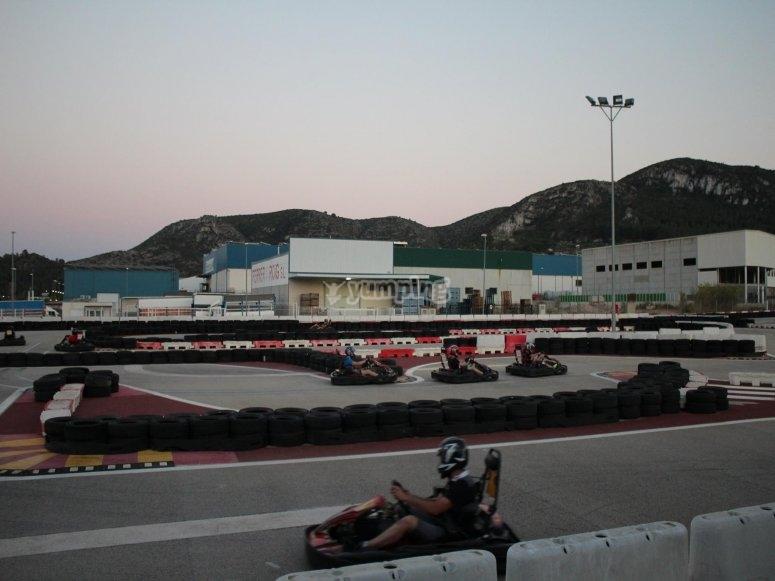 Children's karting in Xeresa
