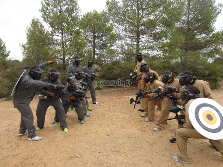 Equipos de paintball