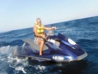 Ruta en Gandía con la moto de agua