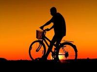 Atardecer en bici