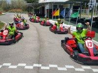 Linea de salida en el karting de Palamos