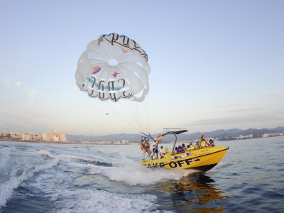 Parasailing, children fee, San Antonio's bay