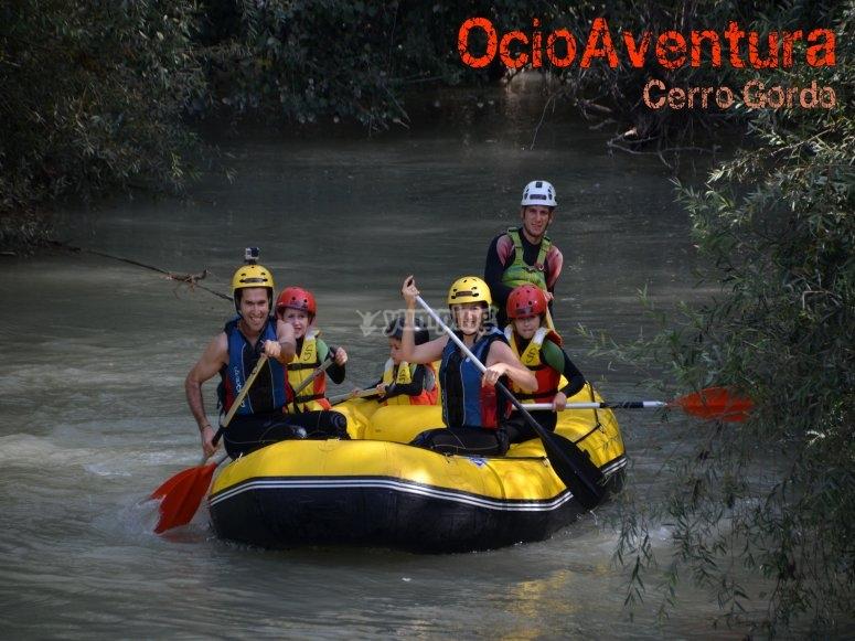 Rafting familia con niños