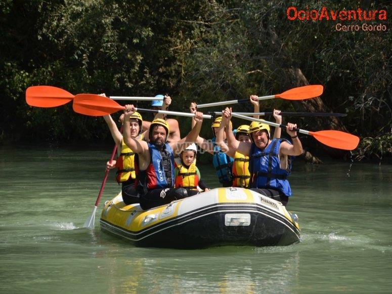 Rafting con niños