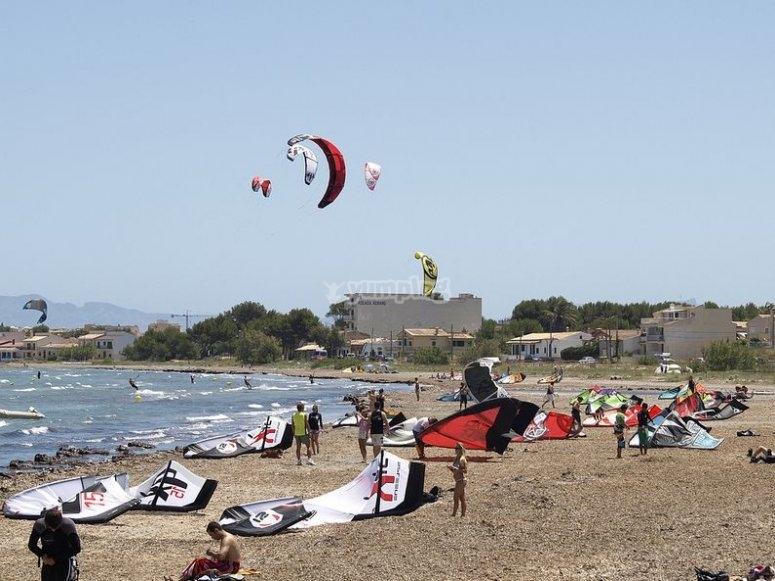 Curso de kitesurf en Muro