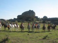 Equestrian excursion group