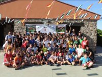 Grupo el ultimo dia de campamento en Valverde