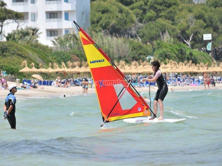 Alquila el equipo de windsurf
