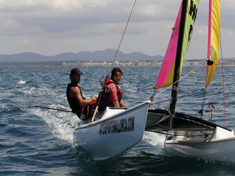 Navegación en catamarán