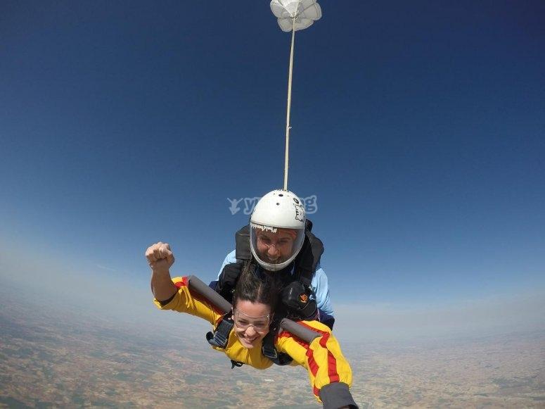 Abriendo el paracaidas