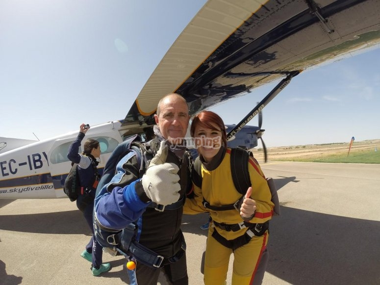 Skydiving in the zone of Madrid