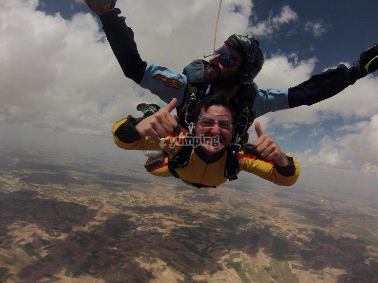 Experiencia de paracaidismo