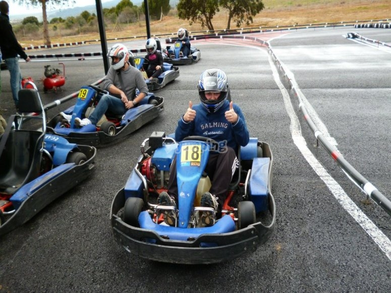 Salida de karting