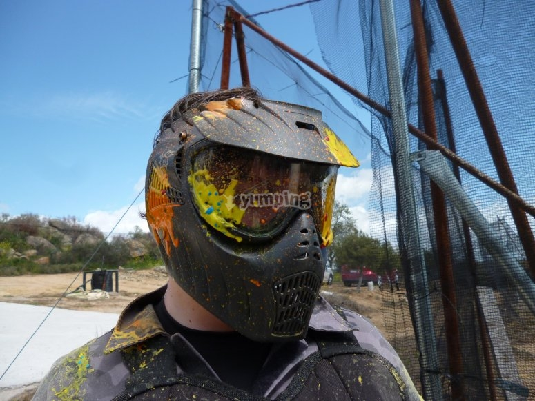 Paintball player eliminated