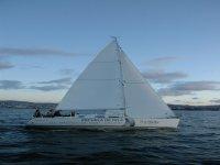 Sailing school boat