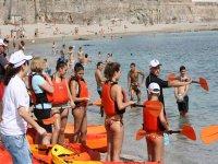 Actividad nautica en kayaks