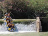 Salto de agua en el río Segura