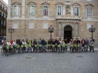 Plaza de Sant Jaume in bike