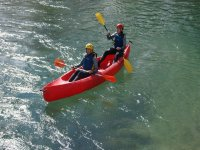 Descend of river Cabriel double canoe for adults