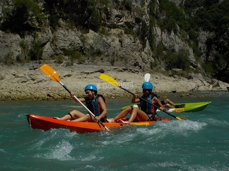 Excursión en kayak en Sobrarbe