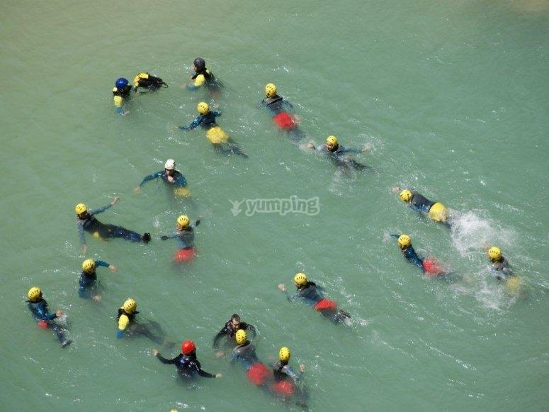Todos en el agua