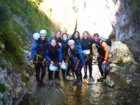 Group of canyoning