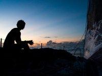 Navegación nocturna en Velero por la ría de Sada