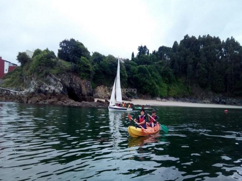 Paseo en kayak por ría de Sada
