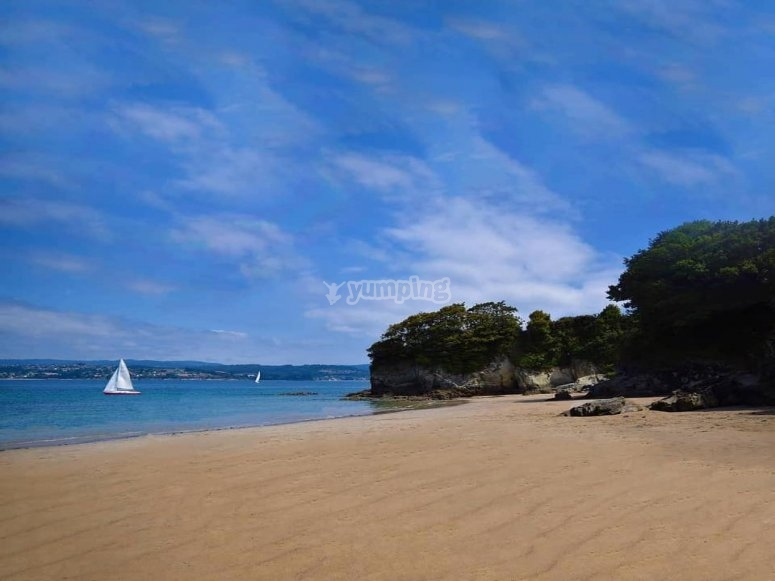 Playa de Sada en kayak