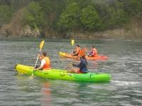 Travesía en kayak guiada por ría de Sada