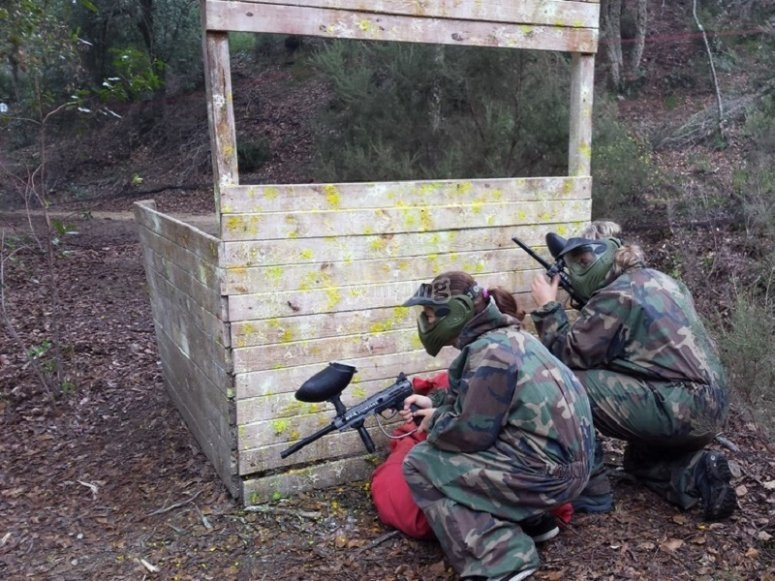 Epic paintball duel