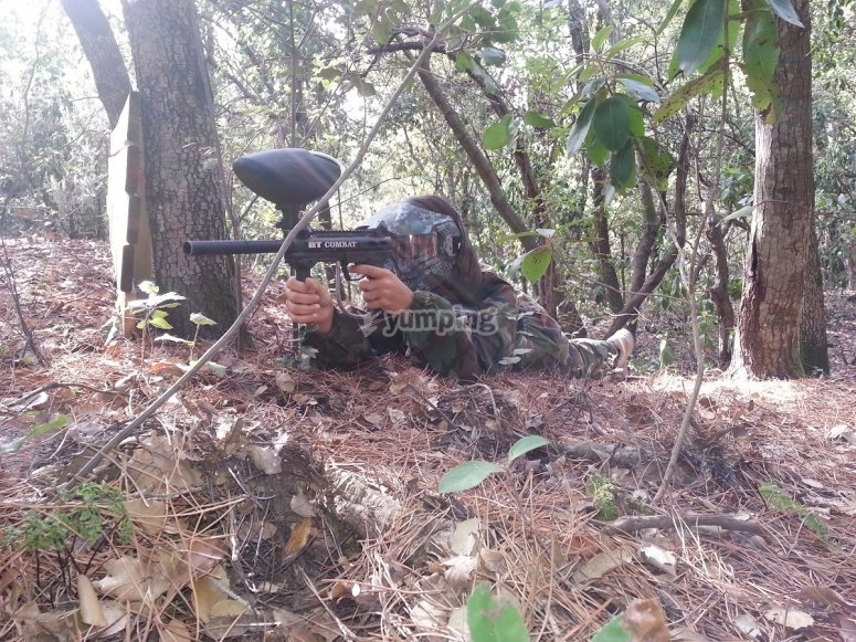 Paintball in natural scenery