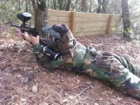 Hiding during paintball