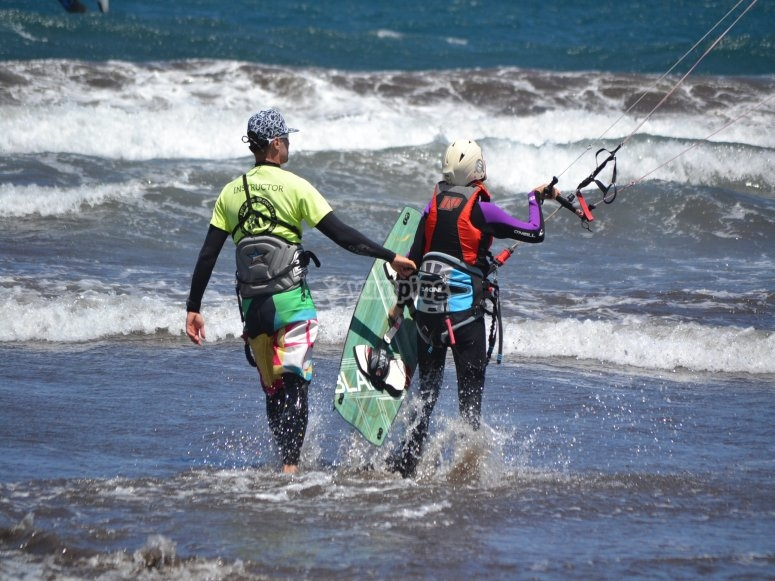 学习如何做风筝冲浪