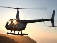 Tramonto in elicottero