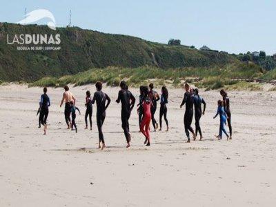 Corso intensivo di surf nel fine settimana, Iniziazione