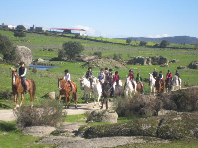 Paseo a caballo en Cáceres