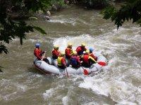 Descending whitewater