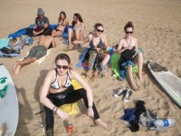Fare una pausa nella sabbia