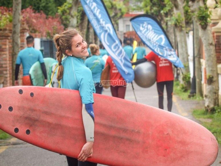 Trasporto della tavola da surf