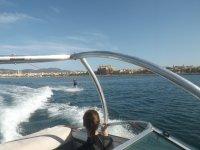 Wake desde barco