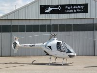 Helicóptero en la base de Sabadell