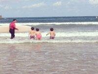 Día de playa y surf